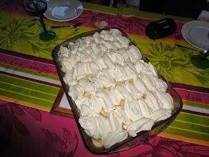 Photo: Le fameux gâteau de Bertrand -- le Banofi -- que Pascal et Nathalie n'avaient pas encore eu l'occasion de gouter.