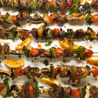 Grilled Orange Beef Kebabs