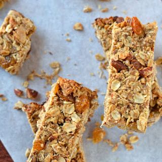 Orange Almond Healthy Granola Bars