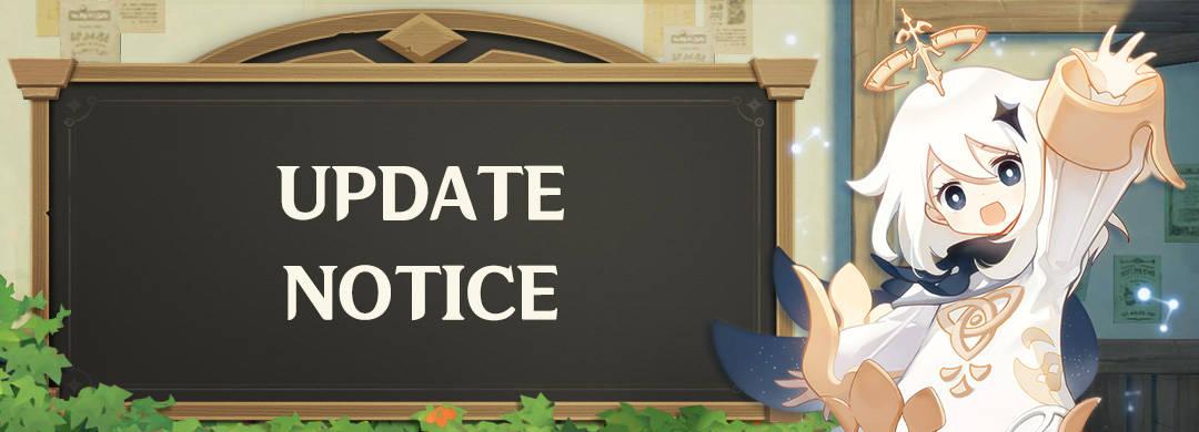 update notice for genshin impact 1.4