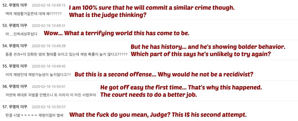 Korean Man comments