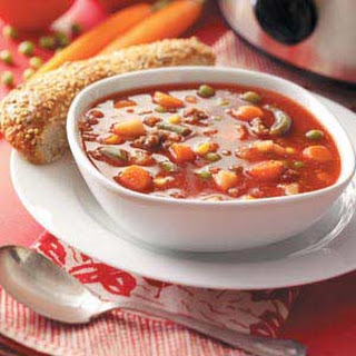 Slow-Cooked Beef Vegetable Soup.