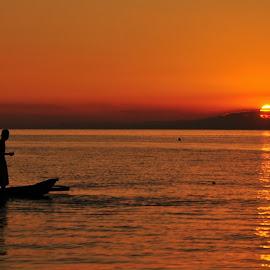 Sunset - Calatagan, Batangas, Philippines by Say Bernardo - Nature Up Close Water