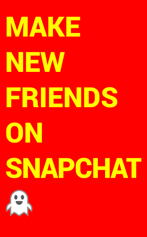 Yellow Make Snapchat Friends - Android Apps On Google Play