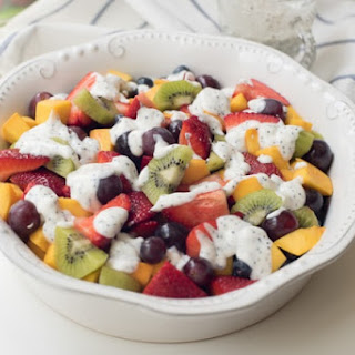Fruit Salad with Creamy Poppy Seed Dressing