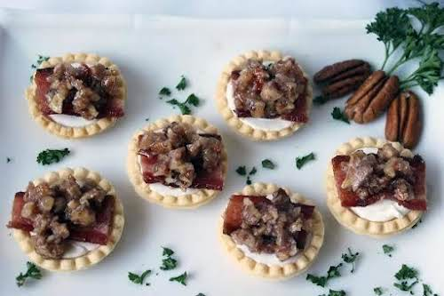 """Goat Cheese, Bacon and Jalapeno Pecan Tartlets""""The smoky, salty, crunchy bacon is..."""