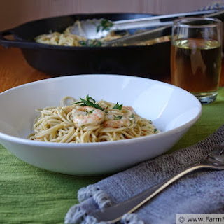 Shrimp and Garlic Scape Scampi