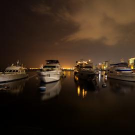 Manila Bay Harbor by Anton Labao - City,  Street & Park  Vistas (  )
