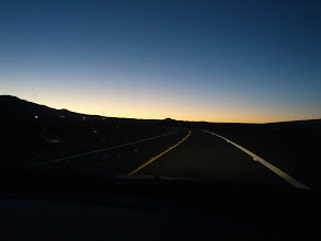 Photo: This was taken at sunrise on the Saddle Road. Randy and I were driving to meet our guide, who was going to take us into the Hakalau National Wildlife Refuge.