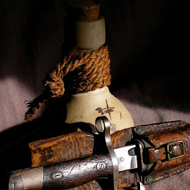 Booze & Bayonet by Bruce Arnold - Artistic Objects Still Life