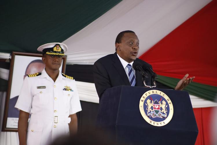 President Uhuru Kenyatta during the National Prayer Breakfast on Thursday, May 30, 2019.