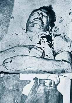 Περιγραφή: Ο στρατηγός Στέφανος Σαράφης μετά το δολοφονικό χτύπημα