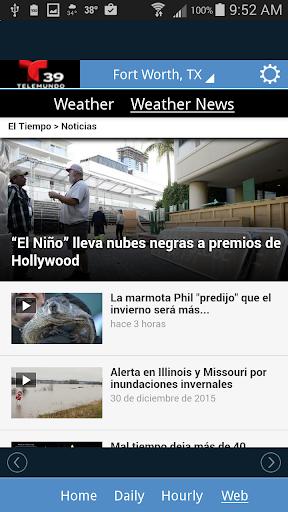 El Tiempo Telemundo 39 Screenshot