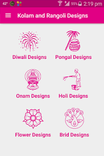 Kolam and Rangoli Designs - náhled