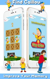 Find Caillou Free Memory Games For Kids