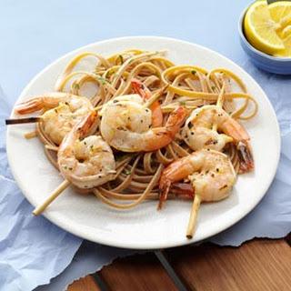 Grilled Shrimp with Lemon Vinaigrette.
