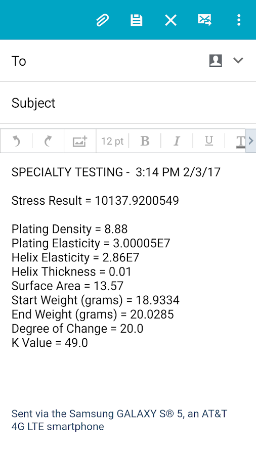 Specialty Testing- screenshot