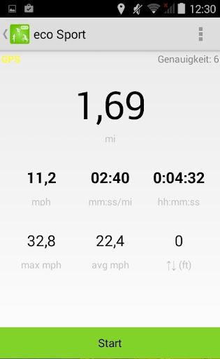eco Sports 追踪跑步,单车,步行进程