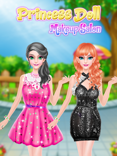 Pink Princess Makeover: Fashion Doll Salon Game Screenshot