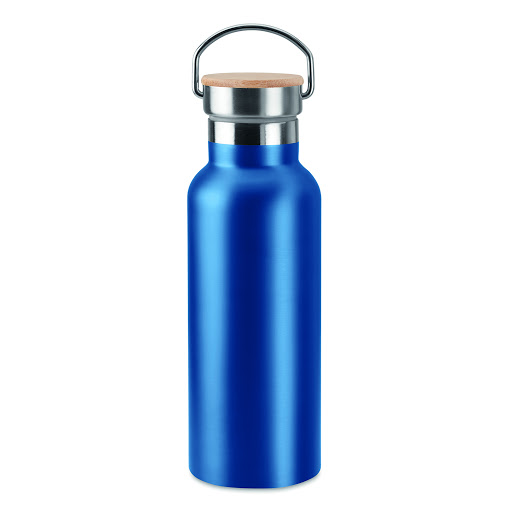 Stainless Steel Vacuum Flask with Bamboo Lid