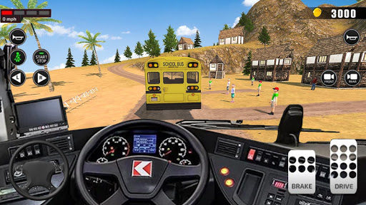 Offroad School Bus Driving: Flying Bus Games 2020 androidiapk screenshots 1