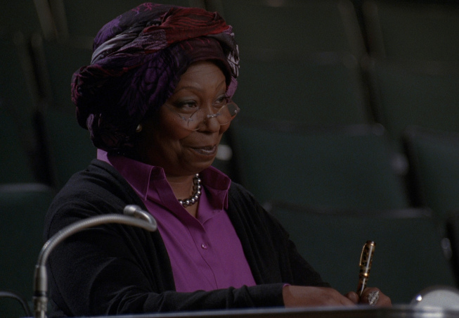 """Photo: GLEE: Whoopi Goldberg guest-stars as Carmen in the """"Choke"""" episode of GLEE airing Tuesday, May 1 (8:00-9:00 PM ET/PT) on FOX. ©2012 Fox Broadcasting Co. Cr: FOX"""