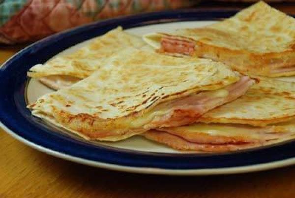 Grilled Ham And Swiss Quesadillas Recipe