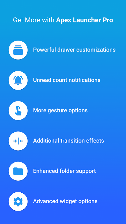 Screenshots of Apex Launcher for iPhone