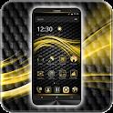 Black Tech Dark Gold Theme icon