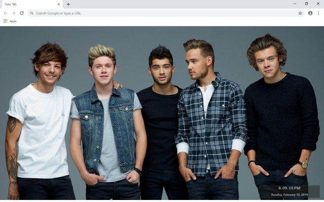 One Direction New Tab & Wallpapers Collection