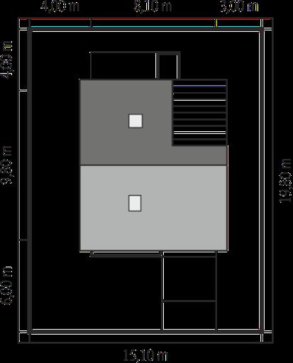 Budynek gospodarczy G35 - Przekrój