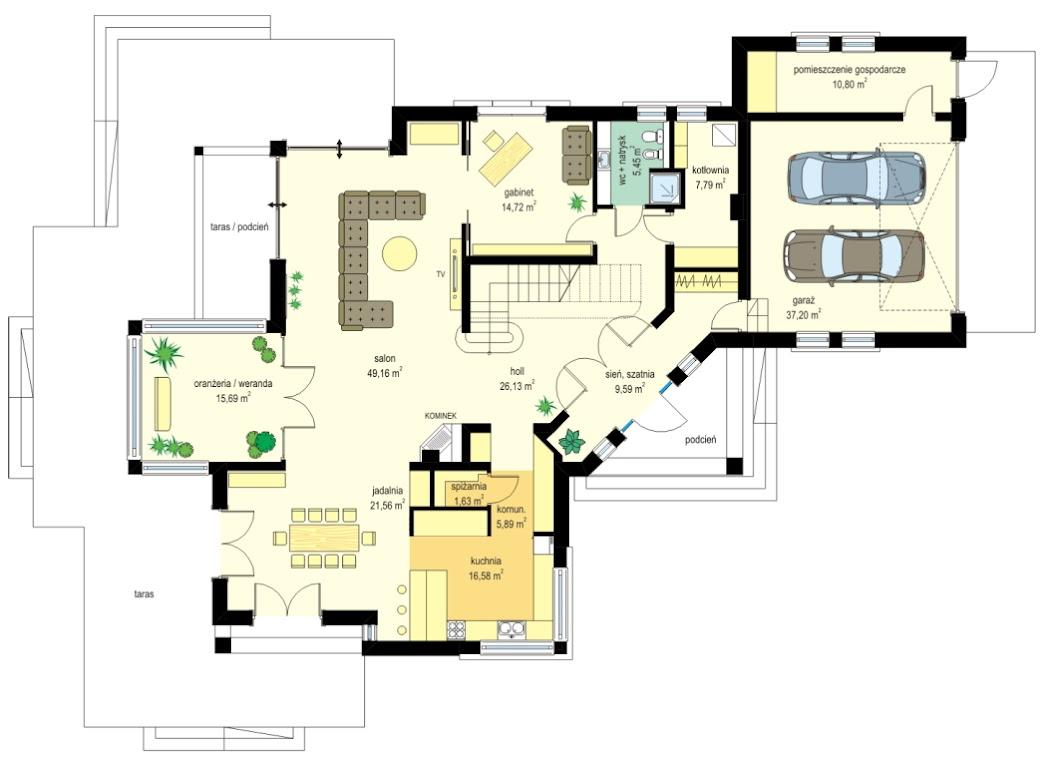 Projekt Domu Malibu Tlg 232 31588m²