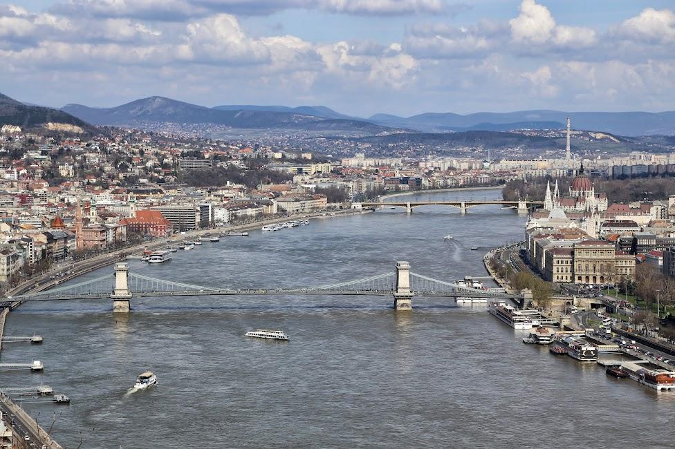 Panorama miasta z Cytadeli, Budapeszt