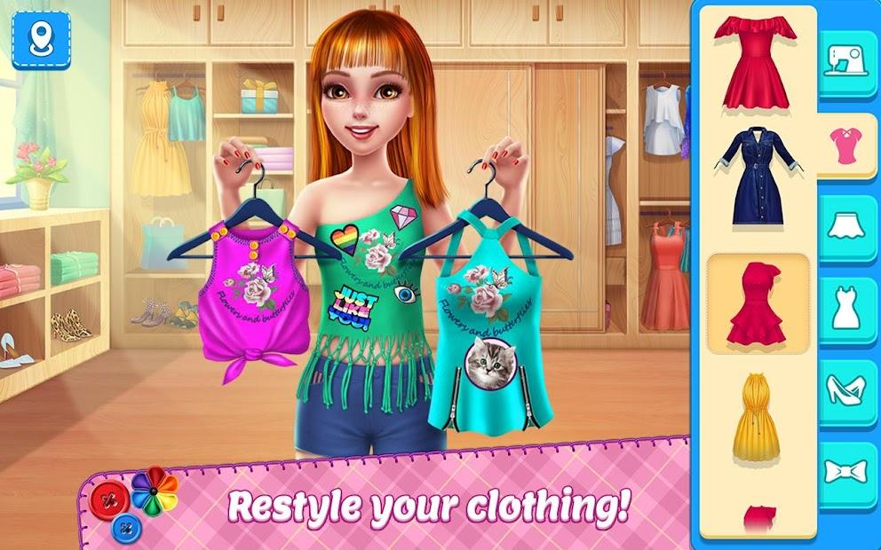 DIY Fashion Star - Design Hacks Clothing Game Android App Screenshot