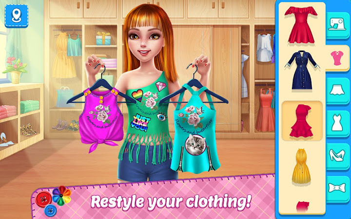 DIY Fashion Star - Design Hacks Clothing Game Android App Screenshot