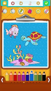 Fish Coloring Pages Screenshot