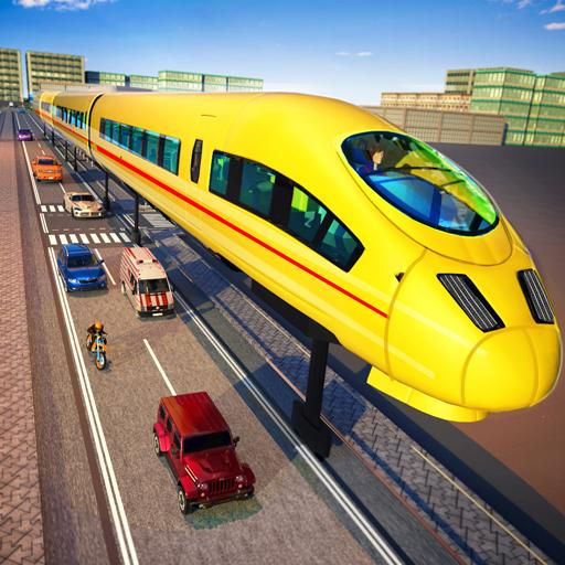 Modern Train Simulator Drive Futuristic Train Game