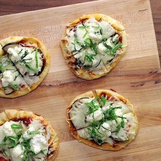 Eggplant Naan Pizzas.