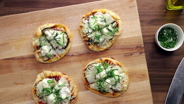 Eggplant Naan Pizzas