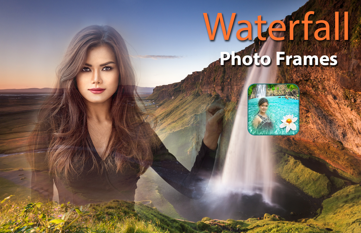 Waterfall Photo Frames- screenshot
