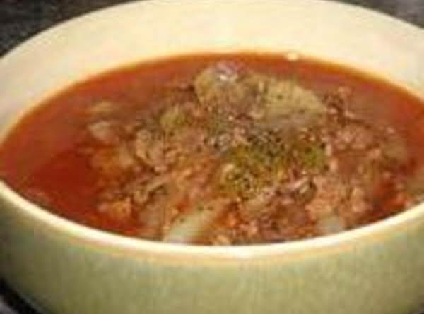 Easy Cabbage Soup With Beef- Grandma's Recipe