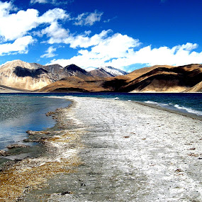 Pangong Lake by Saikat Datta - Landscapes Travel