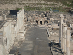 Photo: Ruins on Palladius Street in Bet She'an
