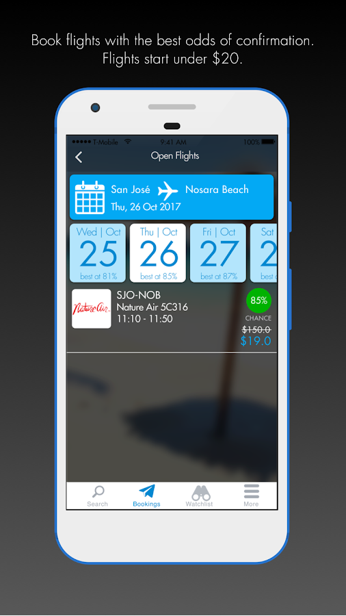 MyCape - Book Standby Flights- screenshot