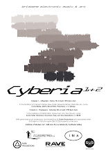 Photo: Poster promoting Cyberia event. Design by Dennis Remmer.