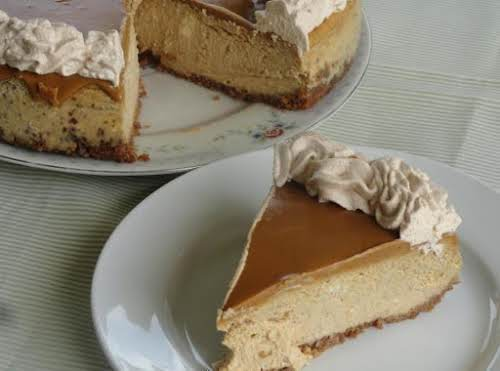 """Biscoff Pumpkin Cheesecake """"I made your cheesecake for Thanksgiving and I agree..."""