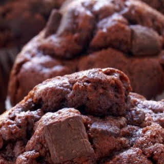 Chocolate Chunk Muffins from a Cake Mix.
