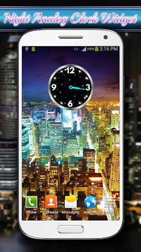 Night Analog Clock Widget