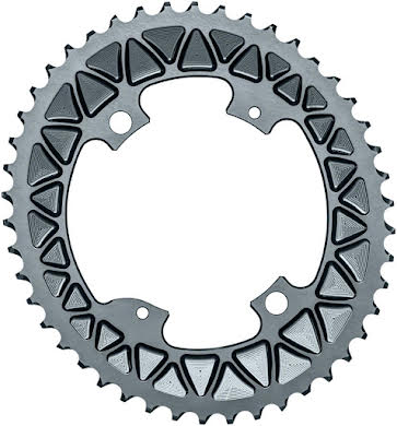 Absolute Black Premium Sub-Compact Oval 110 BCD Road Outer Chainring - Shimano Asym BCD, 4-Bolt, Narrow-Wide alternate image 2