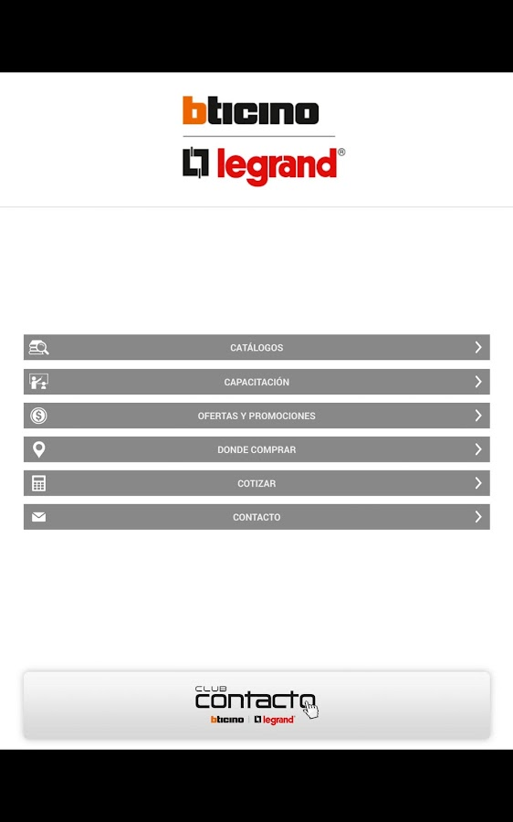 LEGRAND CHILE- screenshot